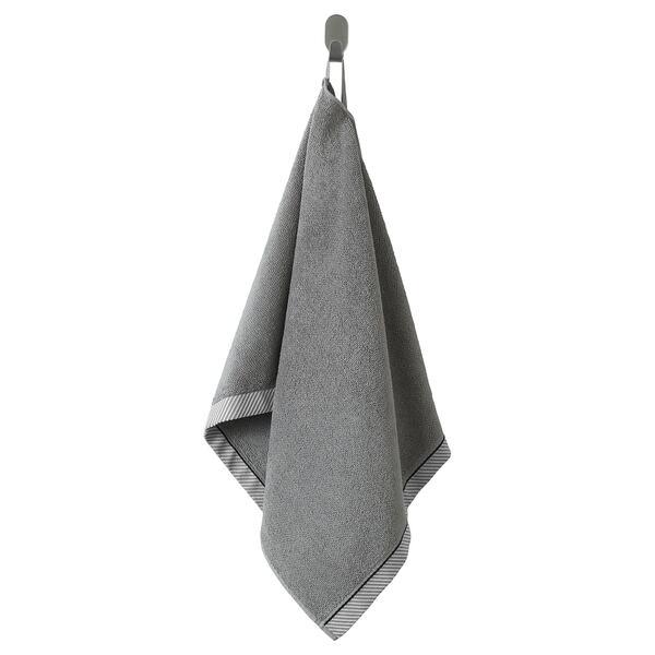VIKFJÄRD                                Handtuch, grau, 50x100 cm