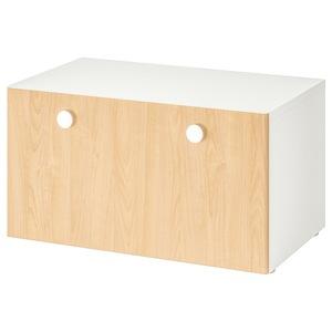 STUVA / FÖLJA                                Banktruhe, weiß, Birke, 90x50x50 cm