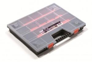 Sortimentskasten schwarz Deckel transparent 65x390x490mm NOR20