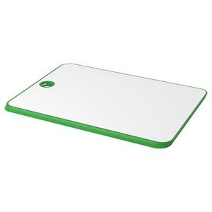 MATLUST                                Schneidebrett, grün/weiß, 34x24 cm