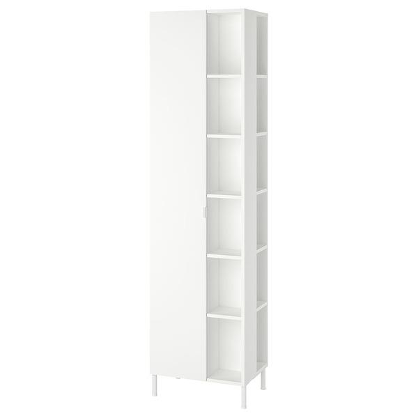 LILLÅNGEN, Hochschrank 1 Tür/2 Abschlussregale, weiß, 49x38x189 cm