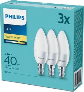 Philips LED Kerze E14 40W 3er Pack