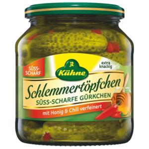 Kühne Schlemmertöpfchen Süß-Scharfe Gürkchen 580ml