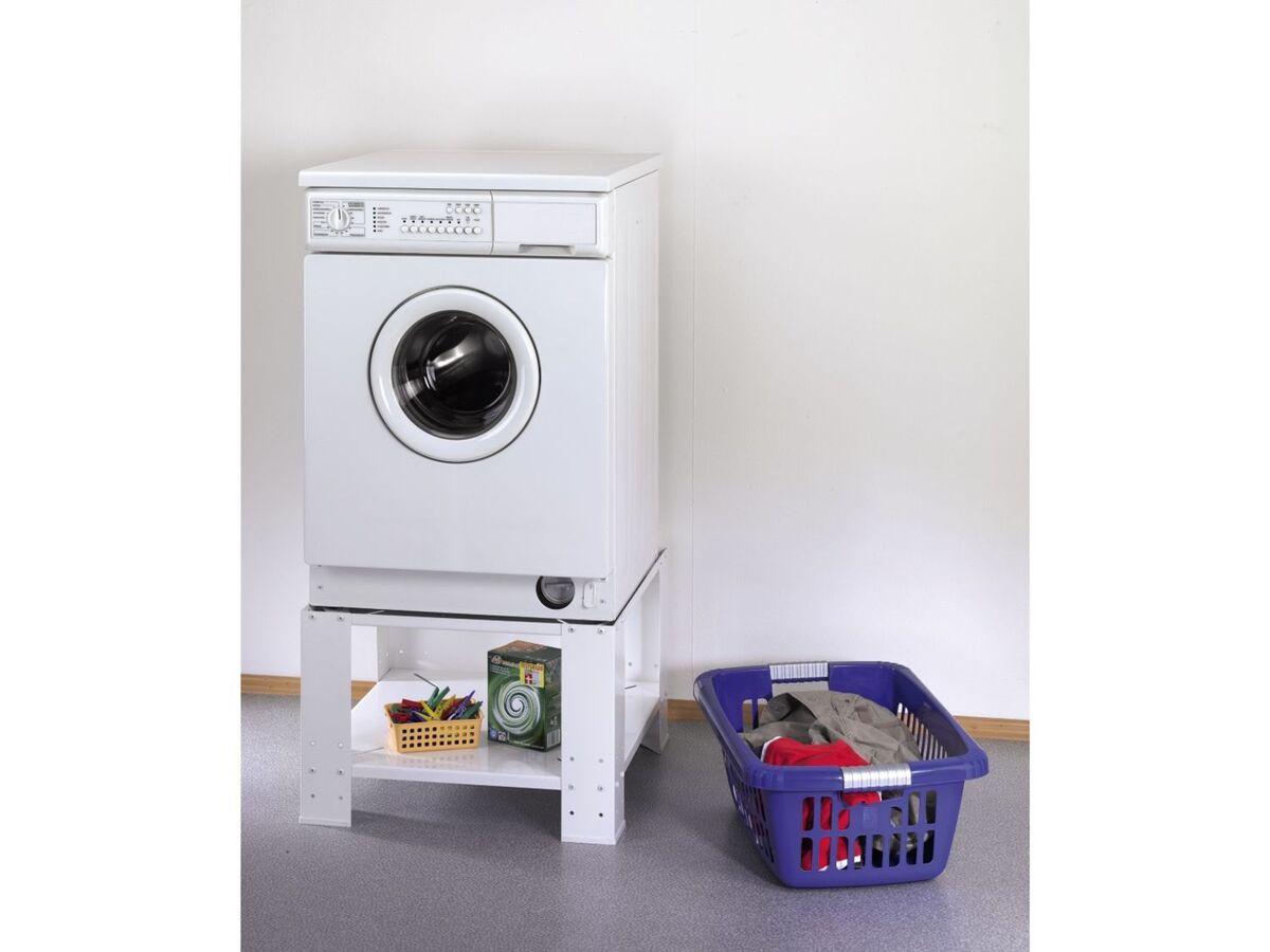 Bild 5 von Xavax Unterbausockel, mit Bodenfach, für Waschmaschine und Trockner, aus Metall