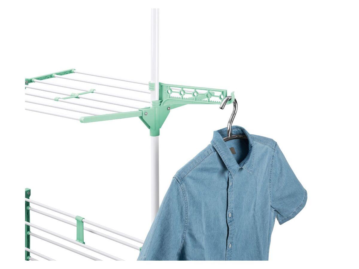Bild 5 von AQUAPUR® Wäscheständer, mit Kleinteilehalter, 3 beidseitig klappbare Etagen, mit Rollen