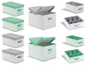 LIVARNO LIVING® Aufbewahrungsboxen mit Deckel / Schubladenaufbewahrung, zusammenfaltbar