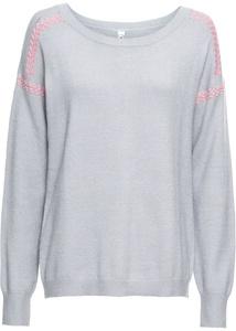 Pullover mit Kontrastnaht