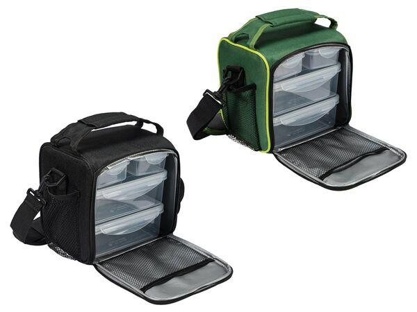 ERNESTO® Kühltasche, mit Schultergurt, inklusive 4 passenden Lunchboxen,