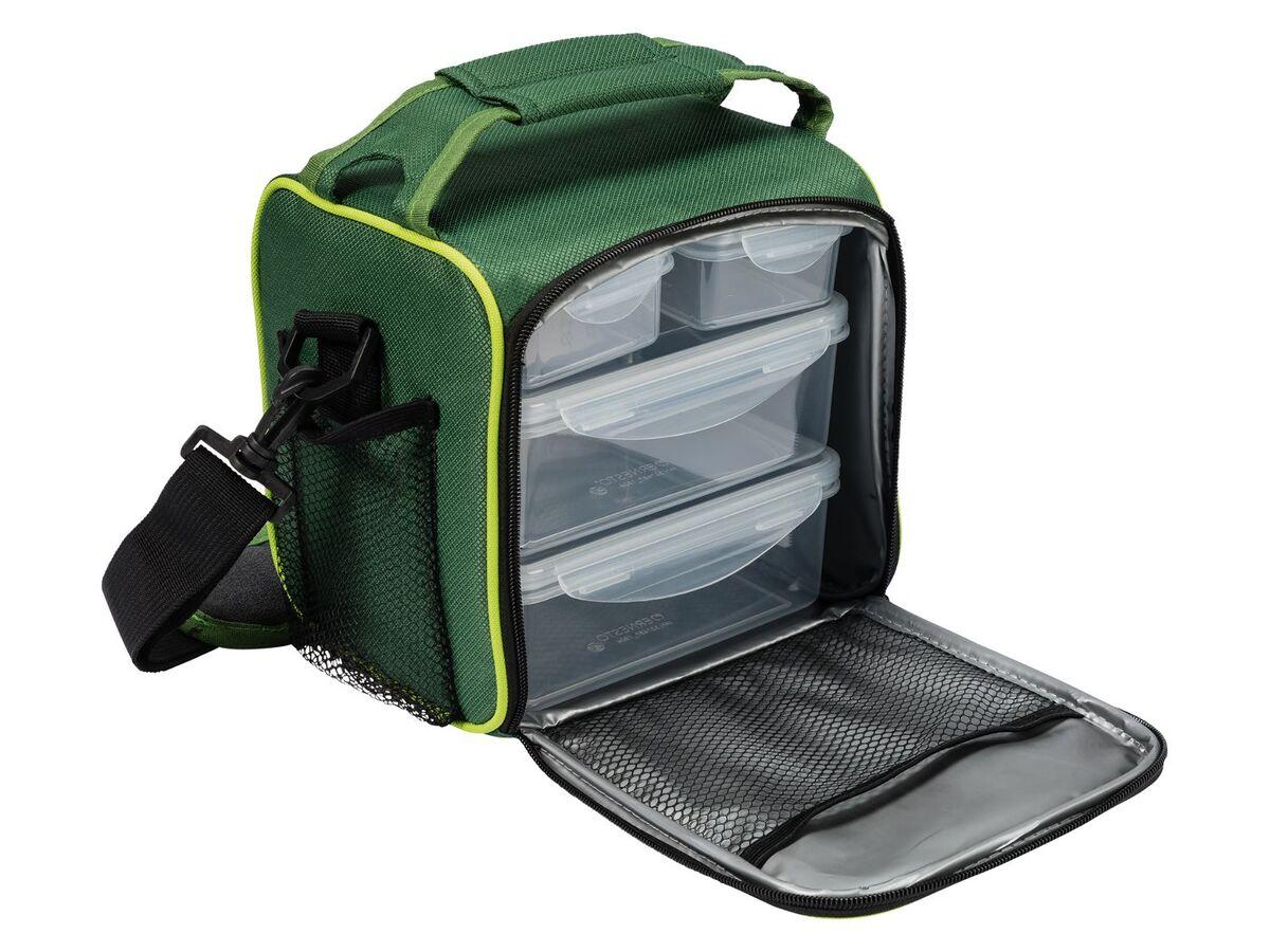 Bild 2 von ERNESTO® Kühltasche, mit Schultergurt, inklusive 4 passenden Lunchboxen,