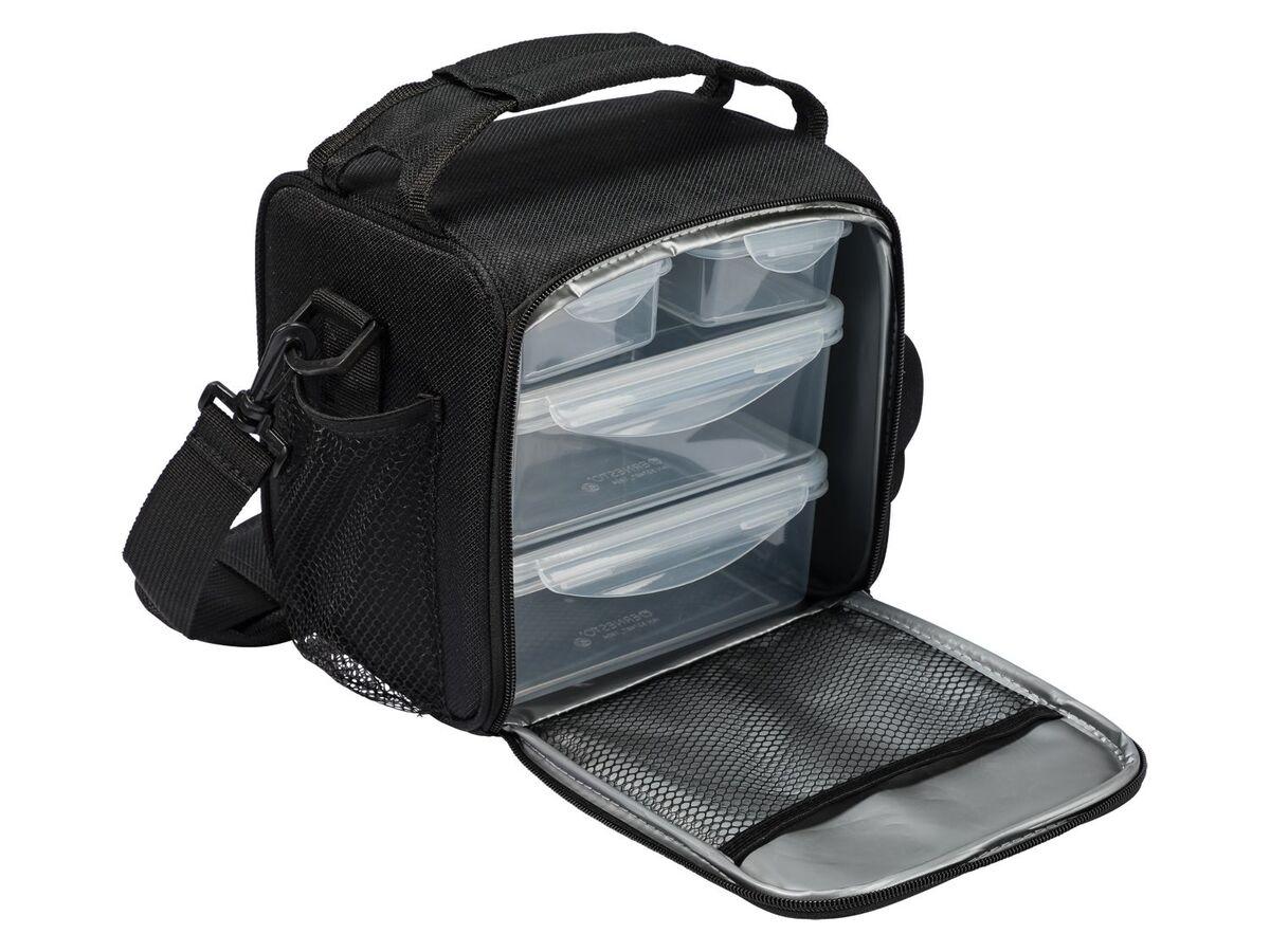 Bild 3 von ERNESTO® Kühltasche, mit Schultergurt, inklusive 4 passenden Lunchboxen,