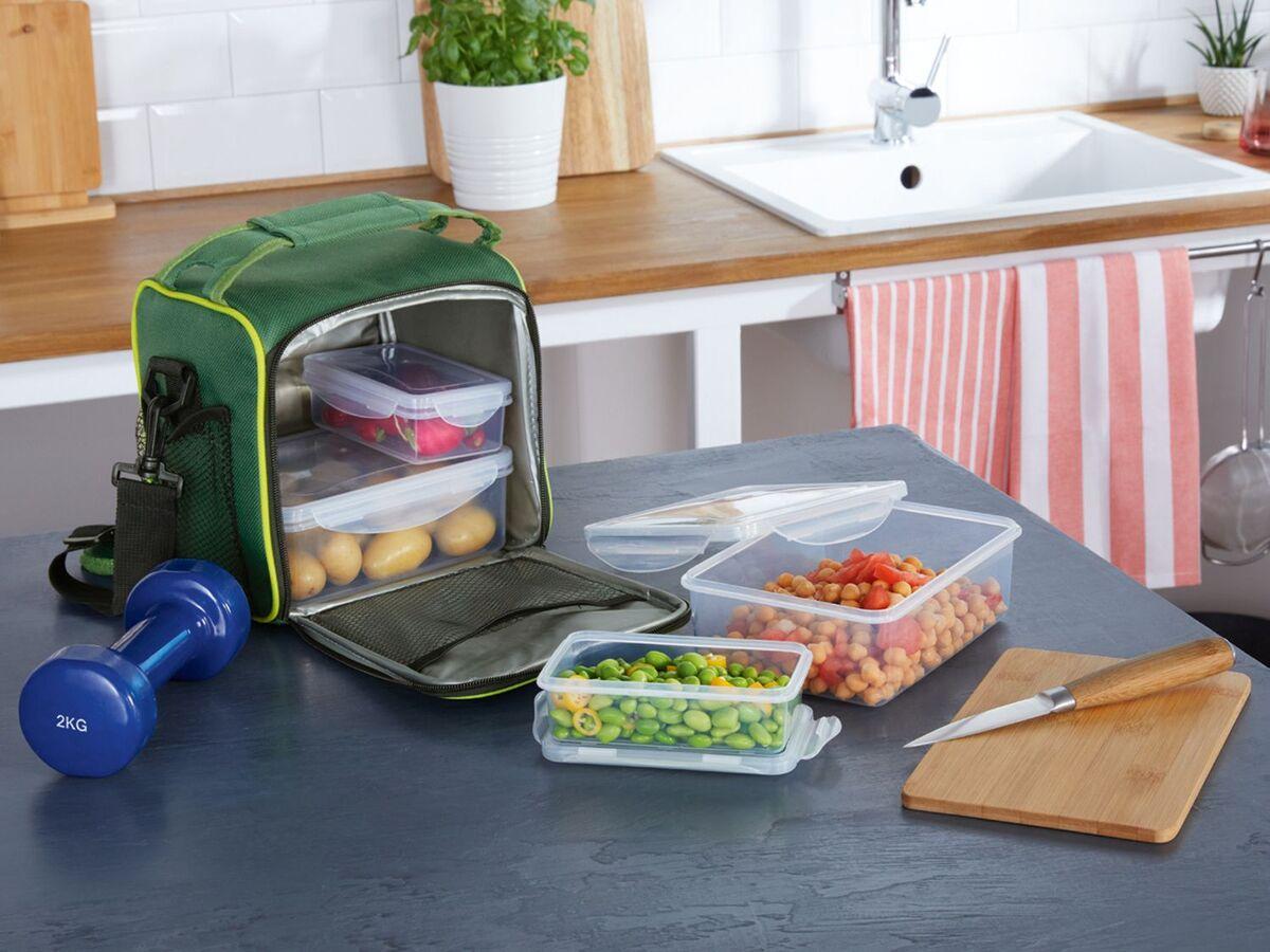 Bild 4 von ERNESTO® Kühltasche, mit Schultergurt, inklusive 4 passenden Lunchboxen,