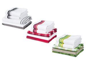 MERADISO® Geschirr- und Handtuchset, 5-teilig, aus Baumwolle