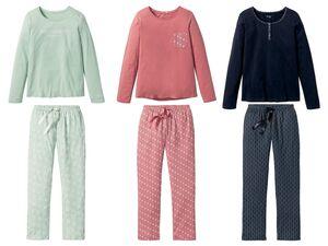 ESMARA® Lingerie Pyjama Damen, Hose mit Eingrifftaschen, mit Bindeband, reine Baumwolle