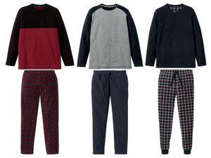 LIVERGY® Herren Pyjama, in Fleece-Qualität, Hose mit seitlichen Eingrifftaschen