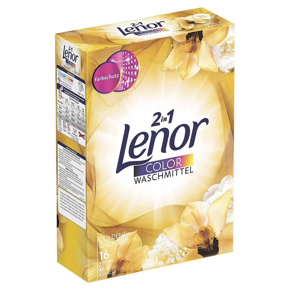 Bild 1 von Lenor 2in1 Color Waschpulver Goldene Orchidee 1040g