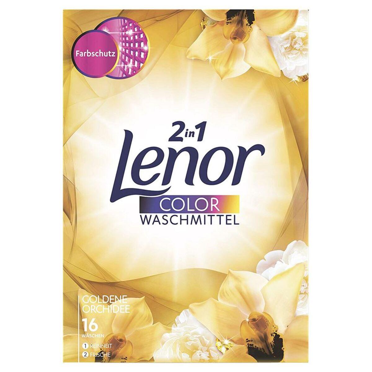 Bild 2 von Lenor 2in1 Color Waschpulver Goldene Orchidee 1040g