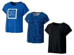 CRIVIT® Funktionsshirt Damen, Sport, Statement-Print, mit Viskose und Elasthan