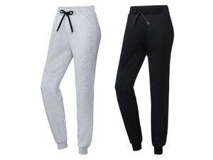 CRIVIT® Jogginghose Damen, Bund mit Kordel, seitliche Eingrifftaschen, mit Baumwolle