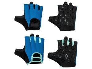CRIVIT® Fitnesshandschuhe Damen, perforierte Innenhand, mit Silikon Print, Mesheinsätze