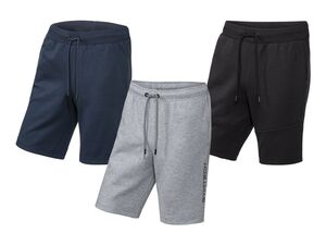 CRIVIT® Sweatshorts Herren, Jogginghose, Fitness, Bund mit Kordel, mit Baumwolle