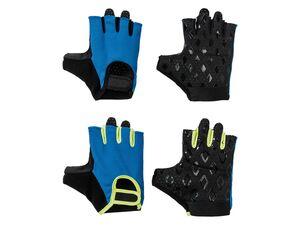 CRIVIT® Fitnesshandschuhe Herren, mit Klettverschluss, Silikon Print, Mesheinsätze