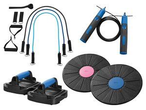 CRIVIT® Springseil mit Gewichten/Liegestützgriffe 2er/Balance-Board/Expander Set