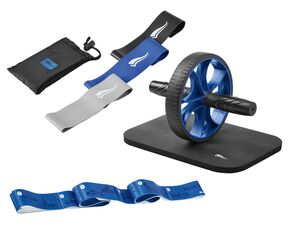 CRIVIT® Stretchband/Bauchtrainer/Fitnessband-Set