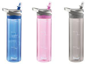 CRIVIT® Trinkflasche, 0,7 l Fassungsvermögen, ausklappbares Mundstück, BPA frei