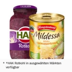 Hengstenberg Mildessa Weinsauerkraut, Rotkraut oder HAK Rotkohl