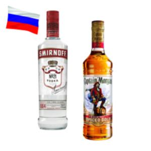 Captain Morgan Spiced Gold, White oder Smirnoff Vodka