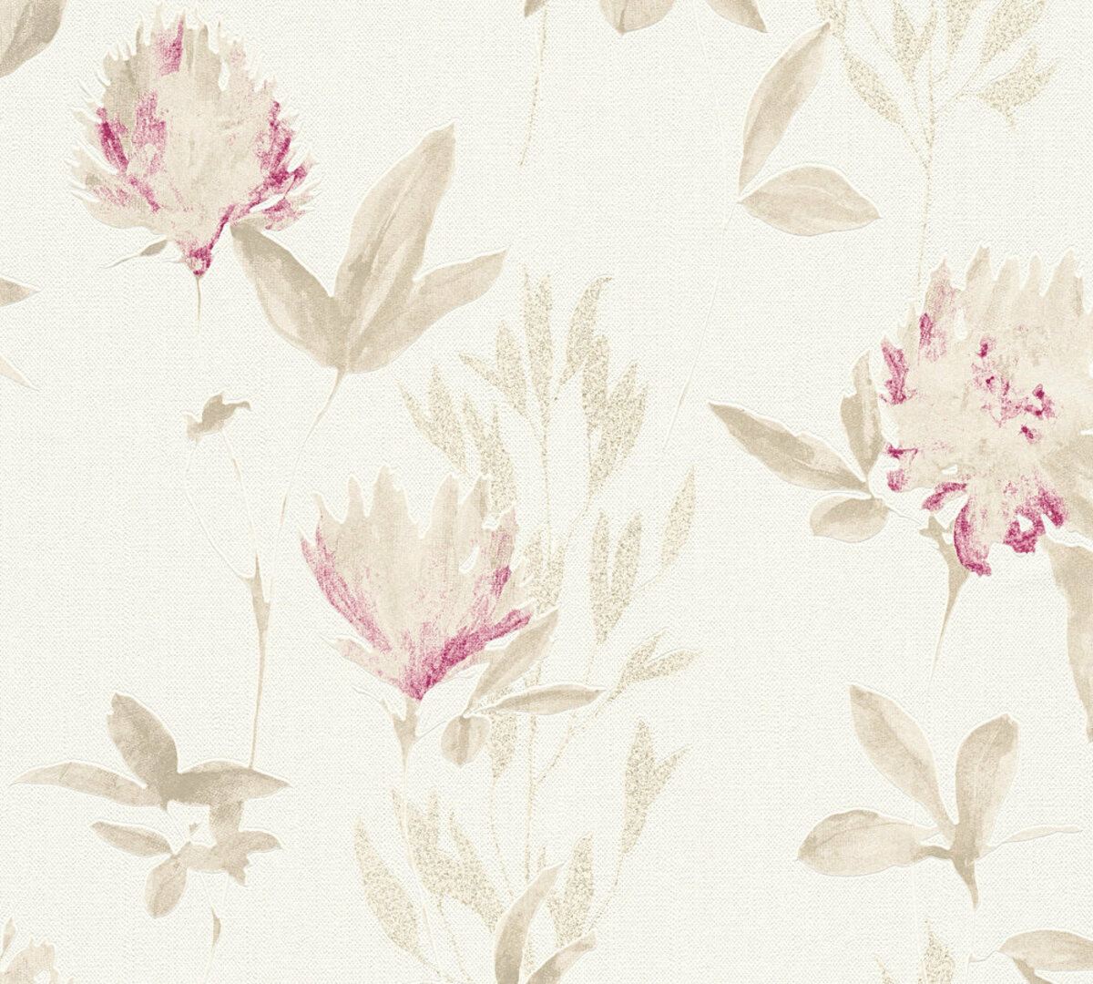 Bild 1 von A.S. Creation Vliestapete Designdschungel by Laura N.- beige metallic violett - Blumen - 10 Meter