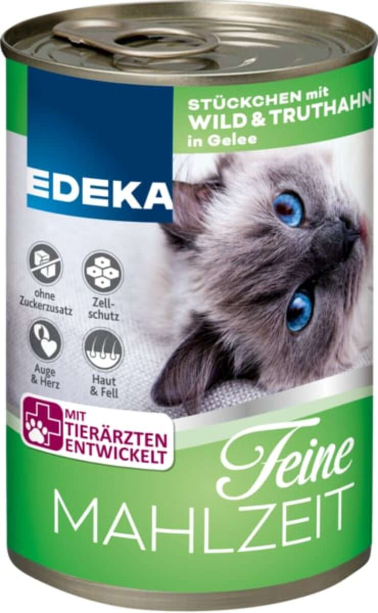 Bild 2 von EDEKA Feine Mahlzeit Wild & Truthahn in Gelee Katzenfutter nass 400 g