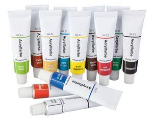 Acrylfarbenset - 12 Tuben à 12 ml