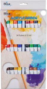 24 Acrylfarben à 12 ml