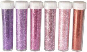 Glitzerpuder-Set - 8 g - 6-teilig - pink