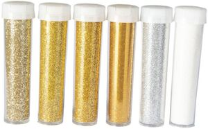 Glitzerpuder-Set - 8 g - 6-teilig - gold/silber