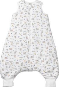 PUSBLU Baby Schlafsack mit Beinen, 90 cm, in Bio-Baumwolle und recyceltem Polyester, weiß, für Mädchen und Jungen
