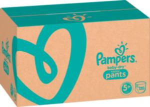 Pampers Pants Baby Dry, Größe 5+, Junior Plus, 12-17kg, Monatspack