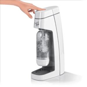 Soda Trend Wassersprudler Classic, inklusive PET-Flasche + 1 CO2-Zylinder, grau/weiß