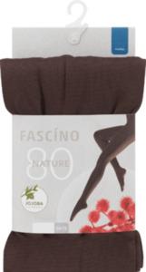 FASCÍNO Strumpfhose Nature, 80 den, mokka, Gr. 46/48