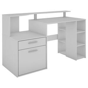 Computertisch in Weiss ca. 140x89x55 cm 'Larry'