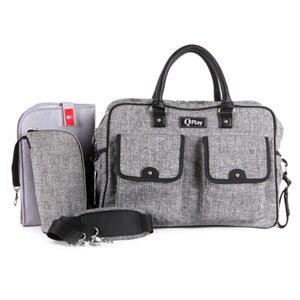 QPlay - Wickeltasche, grau meliert