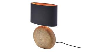 Keramik-Tischleuchte, 1-flammig, Schirm oval