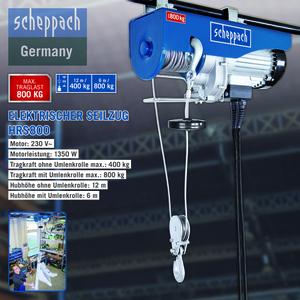 Scheppach Elektrischer Seilhebezug HRS 800
