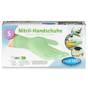 Multitec Nitril-Einweghandschuhe, Grün, Größe S - 200er Set
