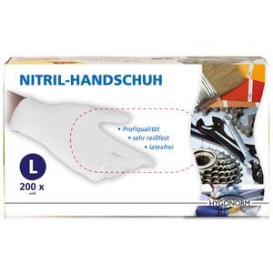 Multitec Nitril-Einweghandschuhe, Weiß, Größe L - 200er Set