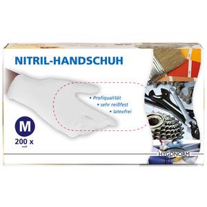 Multitec Nitril-Einweghandschuhe, Weiß, Größe M - 200er Set