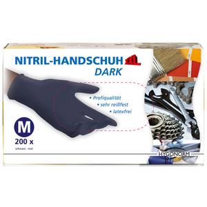 Multitec Nitril-Einweghandschuhe, Schwarz, Größe M - 200er Set