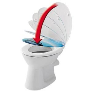 badkomfort Hochwertiger-WC-Sitz, mit Absenkautomatik, Wassertropfen