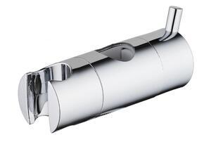 Schütte Schieber für Wandstange Handbrausehalter für Duschstange Kunststoff Chrom